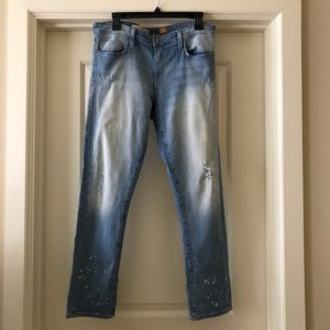 Anthro Pilcro and The Letter Press Distressed Jean